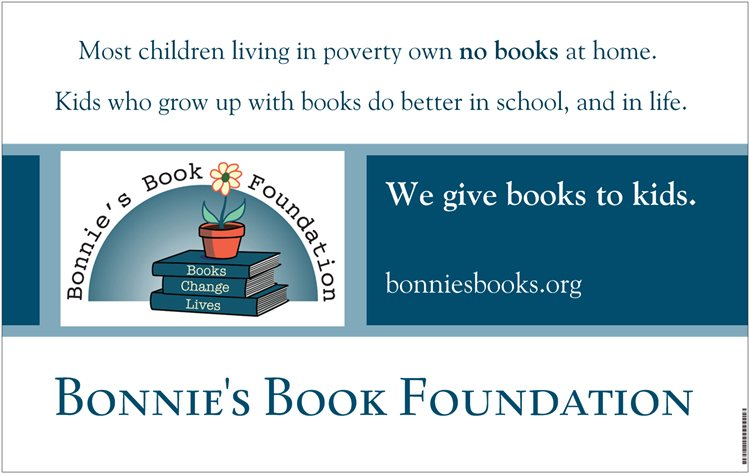We give books to kids.